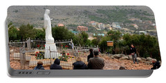 Catholic Pilgrim Worshipers Pray To Virgin Mary Medjugorje Bosnia Herzegovina Portable Battery Charger