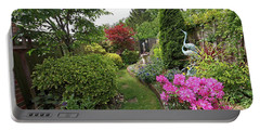 Cathy's Garden - A Little Slice Of England Portable Battery Charger by Gill Billington