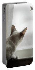 Cat In The Window Portable Battery Charger