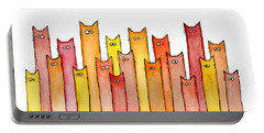 Cats Autumn Colors Portable Battery Charger