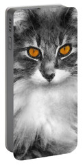 Cats Eyes Portable Battery Charger by Ian Mitchell