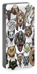 Cats N Dogs Portable Battery Charger by Kevin Middleton