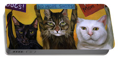Cats On Strike 2 Portable Battery Charger