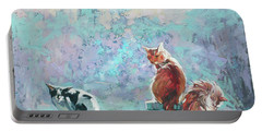 Cats. Washed By Rain Portable Battery Charger