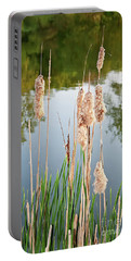 Cattail Seeds Wafting In The Air Portable Battery Charger