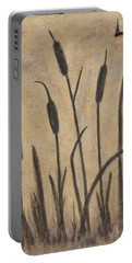 Cattails 2 Portable Battery Charger by Trish Toro