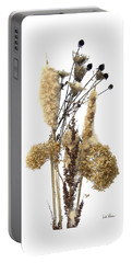 Portable Battery Charger featuring the digital art Cattails And November Flowers II by Lise Winne