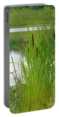 Cattails And Still Water Portable Battery Charger