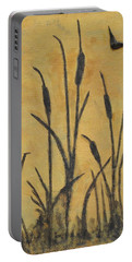 Cattails I Portable Battery Charger by Trish Toro