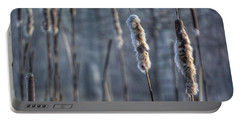 Cattails In The Winter Portable Battery Charger by Sumoflam Photography