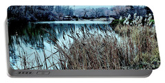 Cattails On The Water Portable Battery Charger