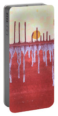Cattails Original Painting Sold Portable Battery Charger by Sol Luckman