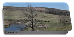 Cattle Along Deep Creek Portable Battery Charger