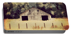 Portable Battery Charger featuring the photograph Hwy 3 Barn by Julie Hamilton