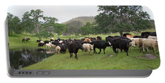 Cattle Portable Battery Charger by Diane Bohna