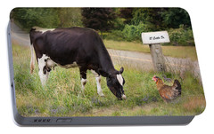 Portable Battery Charger featuring the photograph Cattle Dr. by Robin-Lee Vieira