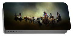 Cattle Drive At Dawn Portable Battery Charger