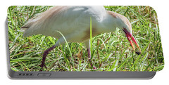Cattle Egret Catching A Spider Portable Battery Charger