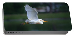 Cattle Egret Profile Portrait In Flight Portable Battery Charger