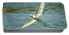Cattle Egret Right Banking Turn - Digitalart Portable Battery Charger