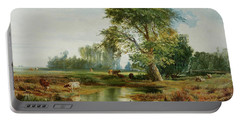Cattle Watering Portable Battery Charger by Thomas Moran