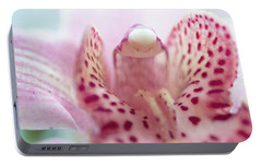 Portable Battery Charger featuring the photograph Cattleya Orchid Abstract 3 by Jenny Rainbow