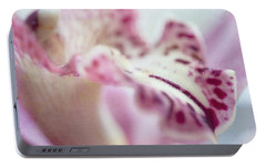 Portable Battery Charger featuring the photograph Cattleya Orchid Abstract 4 by Jenny Rainbow