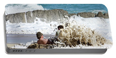 Portable Battery Charger featuring the photograph Caught From Behind by Terri Waters