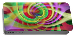 Portable Battery Charger featuring the photograph Caught Up In A Colorful Swirl by Sue Melvin