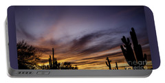 Cave Creek Arizona Sunset Portable Battery Charger by Nick Boren