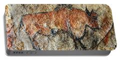 Cave Painting In Prehistoric Style Portable Battery Charger by Michal Boubin