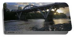 Caveman Bridge At Sunset Portable Battery Charger