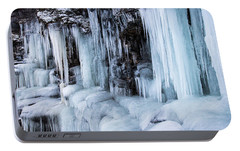 Portable Battery Charger featuring the photograph Caves Of Ice by Alex Lapidus