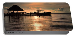 Caye Caulker At Sunset Portable Battery Charger