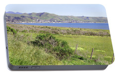 Portable Battery Charger featuring the photograph Cayucos Coastline - California by Art Block Collections