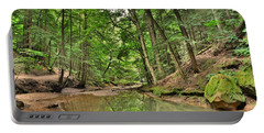 Cedar Falls At Hocking Hill Hiking Trail Portable Battery Charger