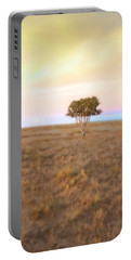 Cedar Tree At Sunset Portable Battery Charger