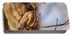 Cedar Waxwing In Autumn Portable Battery Charger