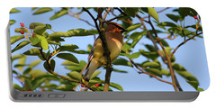 Cedar Waxwing Portable Battery Charger