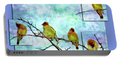 Cedar Waxwing Party Portable Battery Charger