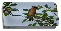 Cedar Waxwing Profile Portable Battery Charger by Mark A Brown