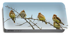 Cedar Waxwings Portable Battery Charger