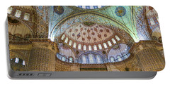 Ceiling Of Blue Mosque Portable Battery Charger