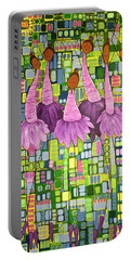 Portable Battery Charger featuring the painting Celebrate by Donna Howard