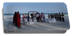 Celebrate Marriage On The Beach Portable Battery Charger
