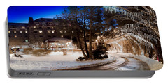 Portable Battery Charger featuring the photograph Celebrate The Winter Night by Karen Wiles