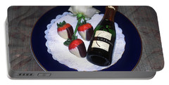 Celebration Plate Portable Battery Charger by Sally Weigand