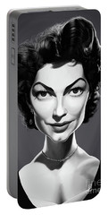 Portable Battery Charger featuring the digital art Celebrity Sunday - Ava Gardner by Rob Snow