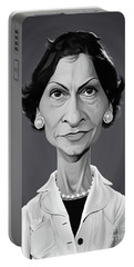 Portable Battery Charger featuring the digital art Celebrity Sunday - Coco Chanel by Rob Snow