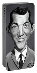 Portable Battery Charger featuring the digital art Celebrity Sunday - Dean Martin by Rob Snow